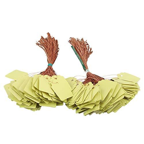 Fdit 200 stücke PVC wasserdichte Streifen Linie Garten Etiketten Hängen Blume Baum Zeichen Pflanzensamen Namensschilder Marker Draußen(Gelb) -