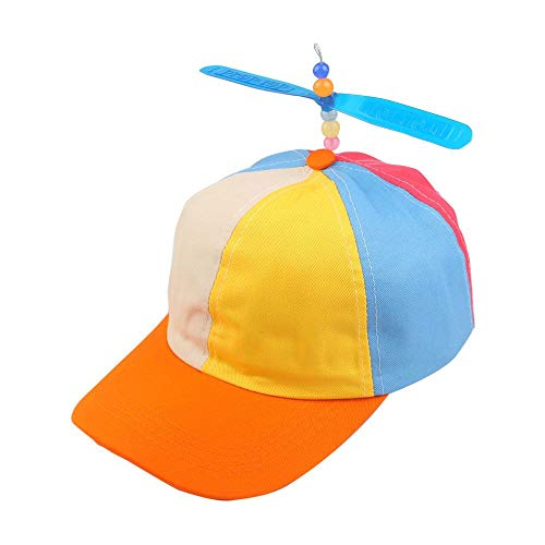 ZKADMZ@ Sommer   Kinder Adjustable Propeller Ball Baseball Cap Dragonfly Top Mehrfarbige Patchwork   Sun Cap Kostüm