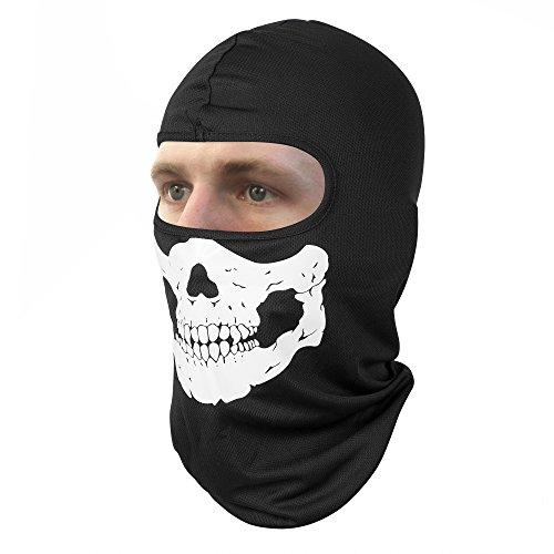 (Rusty Bob - Sturmhaube für Motorrad-Fahrer und Ski - Maske Winter-Sport und Outdoor (Schwarz/Gebiss))