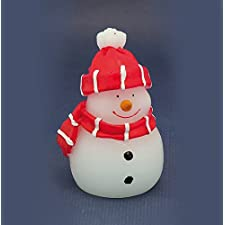 LED de muñeco de nieve 10cm NUEVO Vela de cera decorativa vela