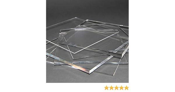 Acrylglas Zuschnitt Plexiglas Zuschnitt 2-8mm Platte//Scheibe klar//transparent 8 mm, 800 x 600 mm