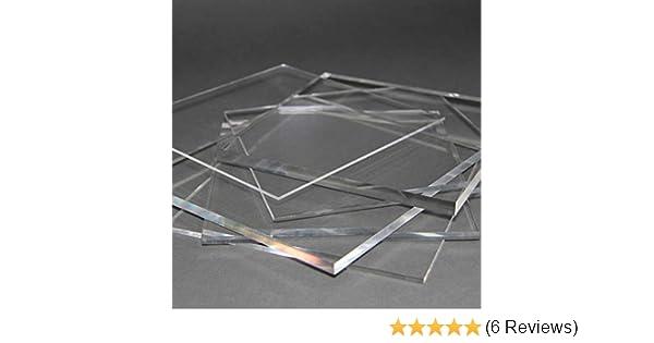 Acrylglas Zuschnitt Plexiglas Zuschnitt 10-25mm Platte//Scheibe klar//transparent 15 mm, 500 x 500 mm