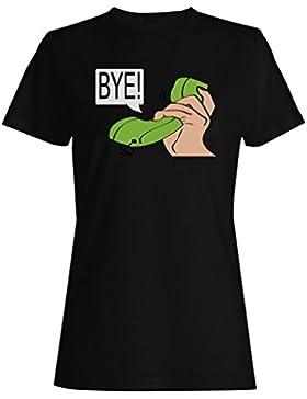 Conversación telefónica por divertido nuevo camiseta de las mujeres b490f