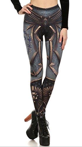 Belsen Damen Leggings mehrfarbig schwarze Streifen M Gr. M, ()