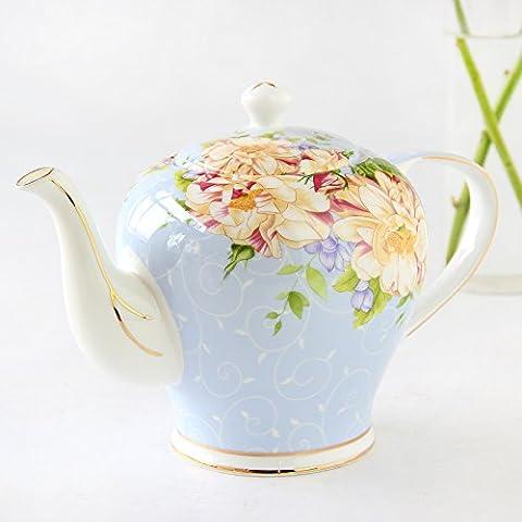 Thé Thé Thé de théière en céramique Service à thé en porcelaine Pot de café Pot de fleurs
