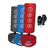 Freistehender Boxsack für Kinder mit Handschuhen Blau blau