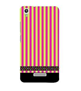 Lines Pattern Black 3D Hard Polycarbonate Designer Back Case Cover for Lava Iris Pixel V1