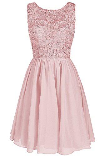 9eec055ae1c Carnivalprom Damen Chiffon Abendkleider Elegant Spitze HochzeitsKleid Kurz  Cocktailkleider Erröten