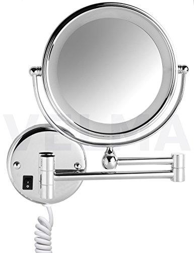 VELMA - SWITCH AROUND - LED208 3x - Zweiseitig beleuchteter LED Kosmetikspiegel - 3-Fach...