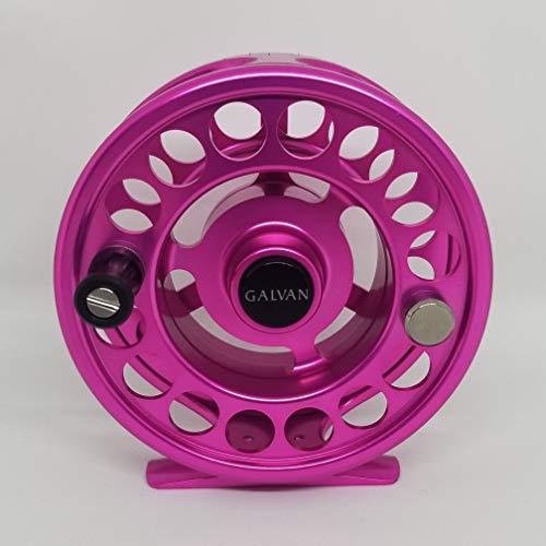 Galvan Rush Light Fliegenrolle, 4 WT, Pink, Limitierte Auflage (Rosa Fly Fishing Reel)