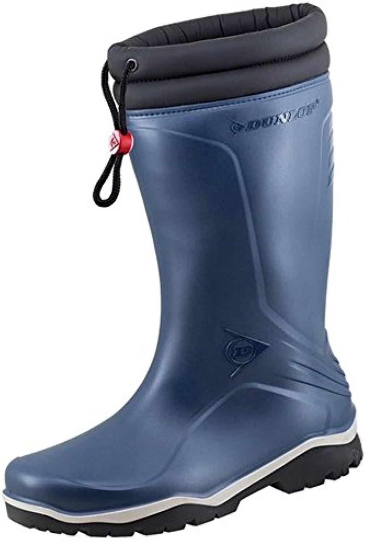 Dunlop Blizzard Winter Gummistiefel Unisex mit Synthetisches Fellfutter   Blau Gr. 44