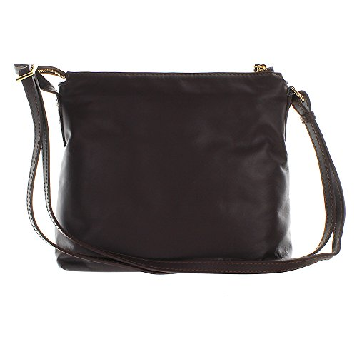 The Bridge Calypso sac bandoulière cuir 29 cm marrone