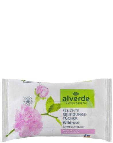 Alverde - Lingettes nettoyantes - Rose sauvage Bio