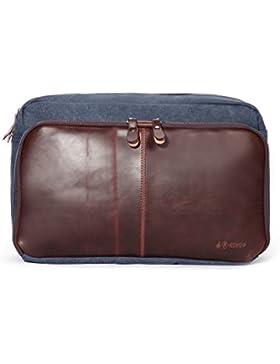 Eshow Herren Canvas Freizeit Täglich Umhängetasche Schultertasche Taschen