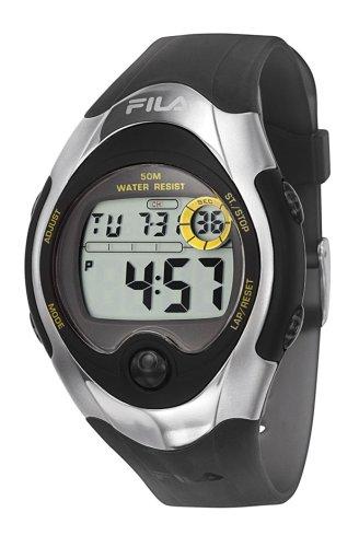 Fila FA0339-61 - Reloj digital de cuarzo para hombre, correa de cuero color negro
