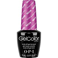 OPI Gel Color Smalto per Unghie, Push & Pur-Pull, Neon