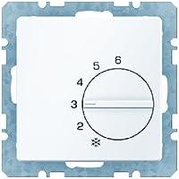 Hager q.1 - Placa termostato con mecanismo blanco polar