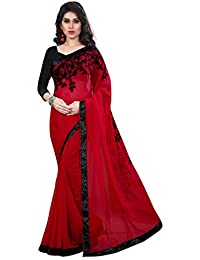 Red Saree(Women's Clothing Saree For Women Latest Design Wear New Collection In Latest With Designer Blouse Free...