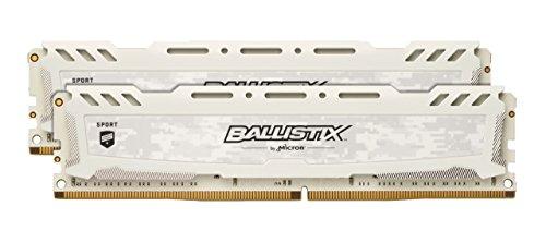 Ballistix Sport LT BLS2K8G4D32AESCK 16GB (8GB x2) Speicher Kit (DDR4, 3200 MT/s, PC4-25600, CL16, Single Rank x8, DIMM, 288-Pin) weiß