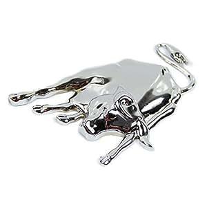 3D argenté/chromé-métal-taureau-emblem-auto-même-autocollants-camion-designs autocollant décalcomanie