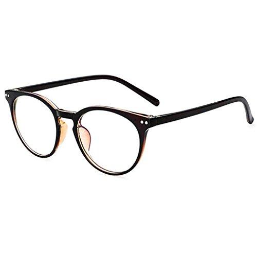 Junecat Unisex Retro runde freie Objektiv-Glas-Brillen Frauen Männer UV400 Schutz Plain Brillen Brillen