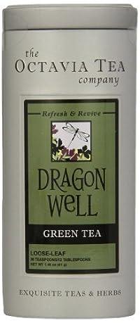 Octavia Tea Dragon Well (Green Tea), 1.46-Ounce Tin