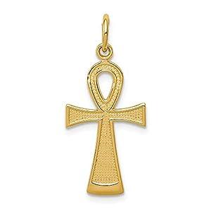 Ankh-Kreuz-Anhänger 14 Karat Gelbgold