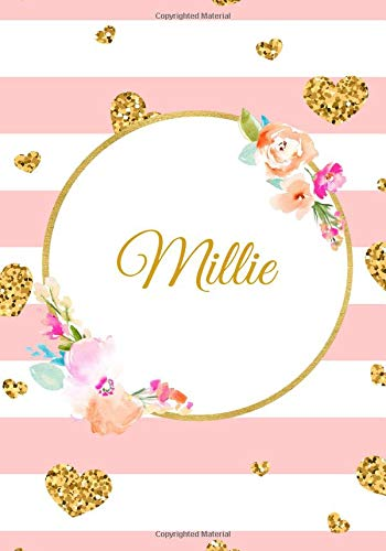 Millie: Customized Name Lined Journal Notebook Diary to Write In, Ruled Composition Planner, For Home Work Stationery, Great Gift for Girls Women, ... Much More (Personalized Name Gifts, Band 171) -