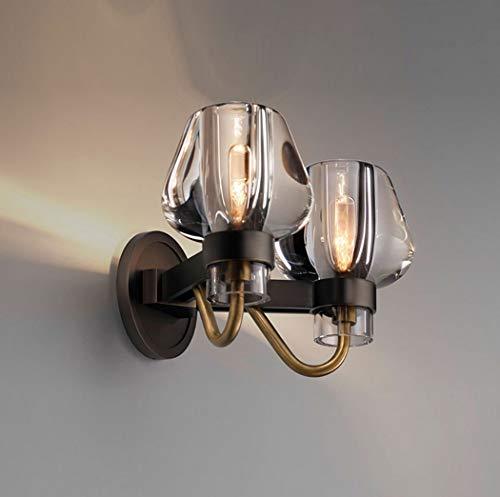 W&HH Kristall Eisen Kreative Wandleuchte Moderne Klassizismus Flur Nacht Wohnzimmer Restaurant Hotel Club Decor Led Licht,2Lights