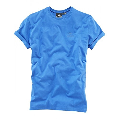 ROADSIGN Australia Herren Basic Rundhals T-Shirt Royal