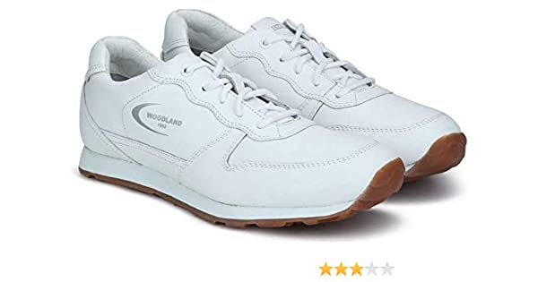 White Leather Sneakers-9 UK/India