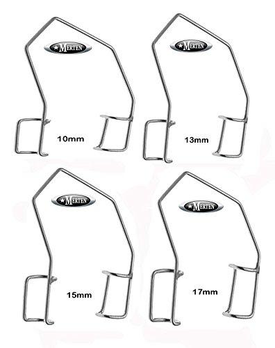 4 x Barraquer Lidsperrer 10-13-15-17mm - Fenster - Eye Speculum
