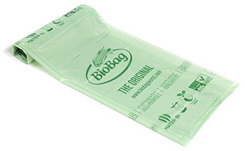 Biologisch abbaubare Küche Caddy Speisen, Mülleimer, Grün, 60Liter, Hemdenknöpfe (Tasche Mülleimer Caddy)