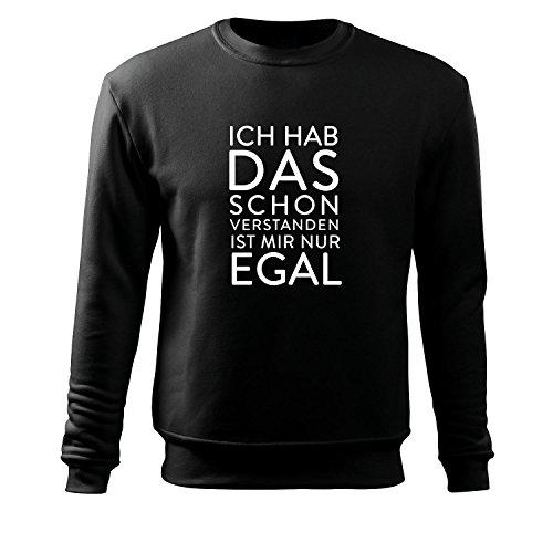 ich hab das schon verstanden Sweatshirt Top Westen T Shirt alle Größen und Farben - Neu S - XXxL (289-Sweat-Schwarz-S) (Militär-kleinkind-t-shirt)