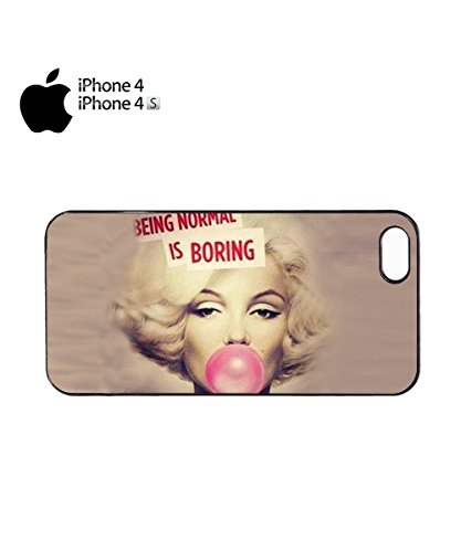 Normal Is Boring Pink Gum Chewing Difference Mobile Phone Case Cover iPhone 6 Plus + White Noir