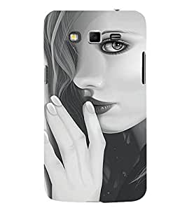 Fabcase Clear face art of girl Designer Back Case Cover for Samsung Galaxy Grand 2 :: Samsung Galaxy Grand 2 G7105 :: Samsung Galaxy Grand 2 G7102 :: Samsung Galaxy Grand Ii