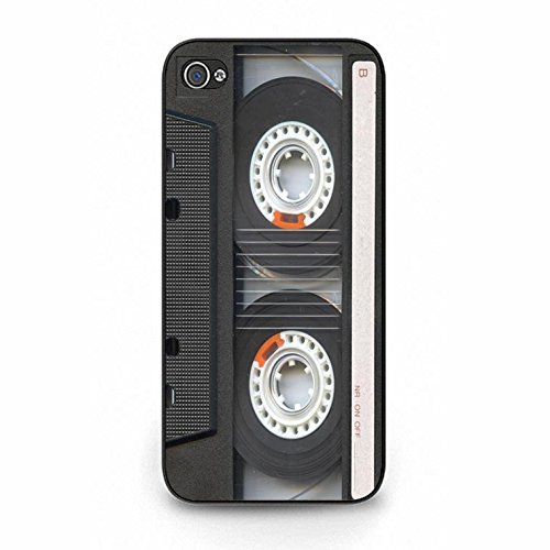 Iphone 5/5s Magnetic Tape Shell Cover,Personality Cusom Music Tapes Phone Case Cover for Iphone 5/5s Cassettes Cool Color131d