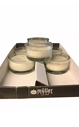 Müller Kerzen 6 STÜCK DREIDOCHT DUFT Kerze Vanille Kerze IM Glas KERZENGLAS Glas Müller