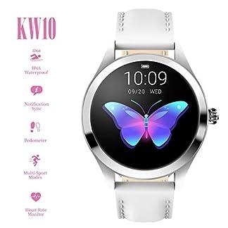 ZDY-Smart-Watch-KW10-Runder-Touchscreen-IP68-Wasserdichte-Smartwatch-fr-Frauen-Fitness-Tracker-mit-Herzfrequenz-und-Schlaf-Pedometer-Armband-fr-IOSAndroid