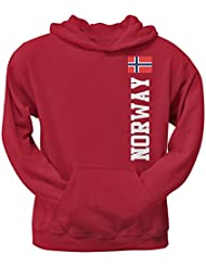 World Cup Norway Red Adult Pullover Hoodie - Sweat-shirt - Homme Rouge Rouge