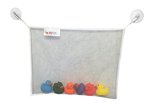 Baby - Badspielzeug-Taschen-Organizer. Große Spielzeug Aufbewahrungstasche, mit 4 Seiten Rand. Extra starke, große Saugnäpfe.