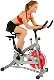 Sunny Health & Fitness Unisex Adult SF-B1421 Indoor Cycling Bike - Silver, One