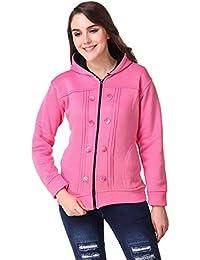 Kiba Retail Woolen Blend Casual wear Full Sleeve Colored Sweatshirt Size (S, M, L, XL) for Women Girls Single