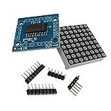 ARCELI MAX7219 Rote LED Dot Matrix Display Modul MCU Steuerung DIY Kit mit 1x8 Rundloch Buchsenleiste 5P Looper für Arduino