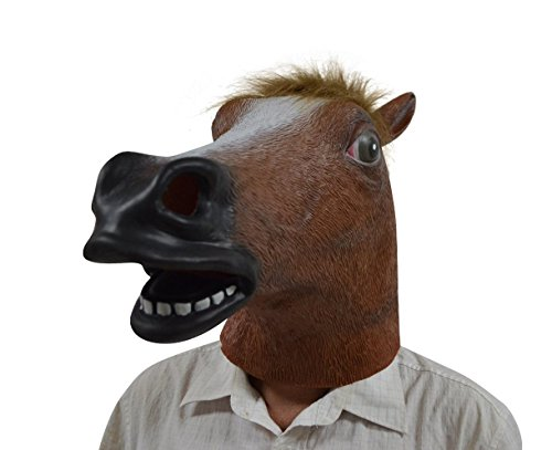 Halloween Costume Party Deluxe novità Latex Testa di animale testa Maschera di cavallo