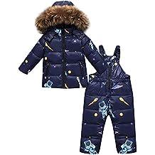 e526a3c0d ZOEREA 2 Piezas Traje de Nieve Niños Abrigos Chaqueta con Capucha +  Pantalones Niña Niño Ropa