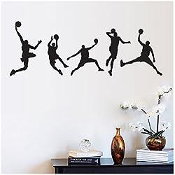 Vinilo de decoración para dormitorio con motivo de baloncesto