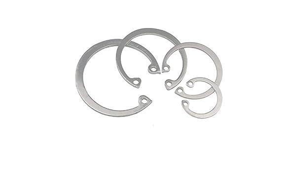 17mm Stainless Steel Internal Retaining Rings 100Pcs