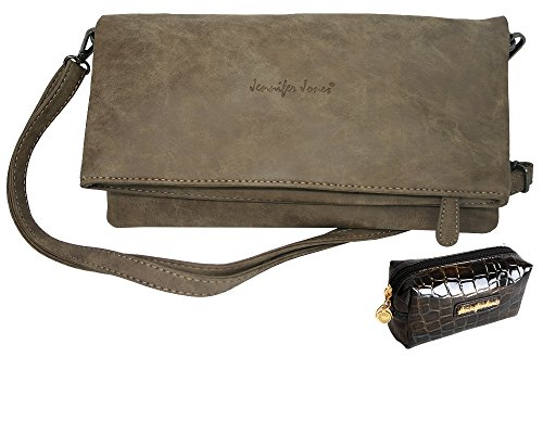 9f681540dd176 Damentasche Handtasche Jennifer Jones Taschen Umhängetasch Schultertasche  große Clutch Tasche für Damen 2 Tragevarianten Clutch   Crossbody Bag  kleine ...