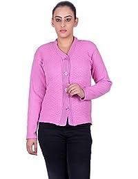 eWools Women Ladies Girls Winter Wear Woolen Button Top Cardigans Sweaters (Lycra Cardigans)